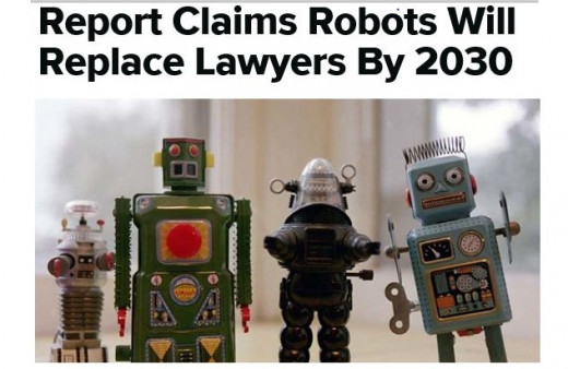 According to Jomati Consultants, law firms will solely comprise artificial intelligence. Click link for further reading.