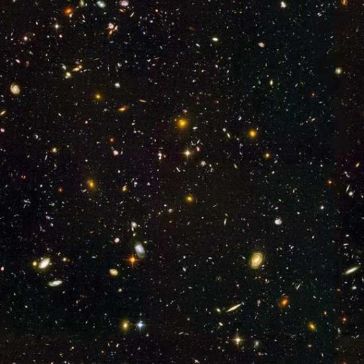 The Hubble Space Telescope was pointed at the darkest patch of sky to see what was there. This is what it found.