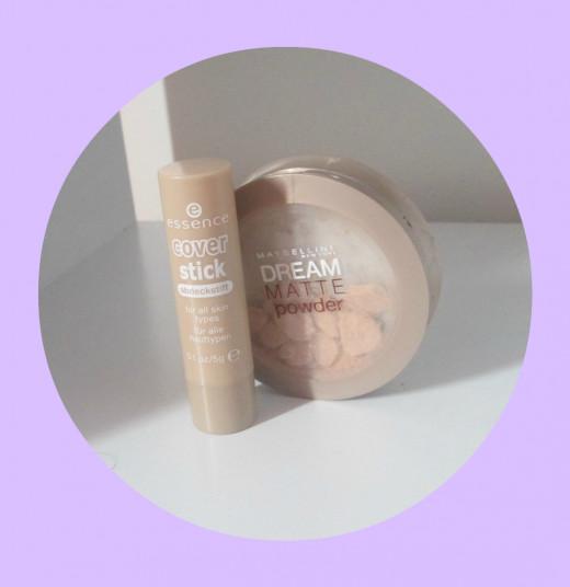 Essence Concealer & Maybelline Setting Powder