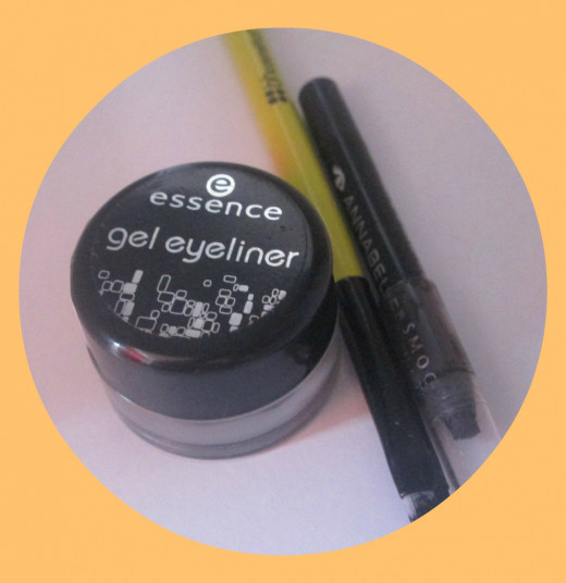 Essence Gel Liner with Bh Cosmetics Angled Brush & Annabelle Pencil Liner