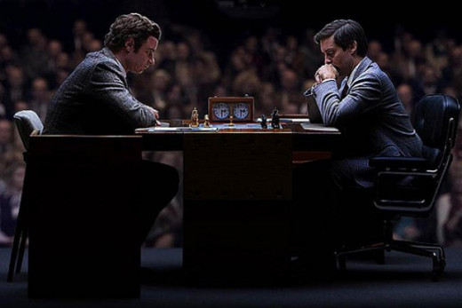 One of the 12 worldwide televised games. Fischer wound up winning by a narrow but undoubtedly significant margin.