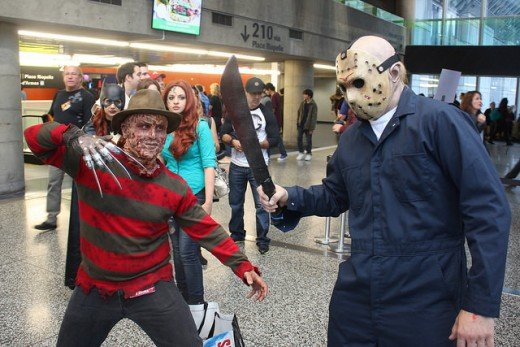 Montreal Comiccon 2014: Freddy and Jason