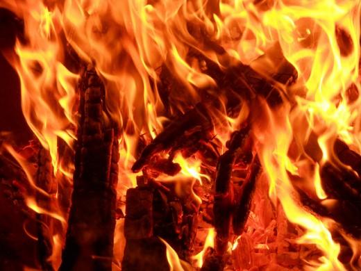 A fiery inferno