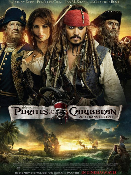 "Poster for ""Pirates Of The Caribbean: On Stranger Tides"""