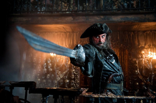 McShane's Blackbeard feels a bit more believable than Davy Jones...