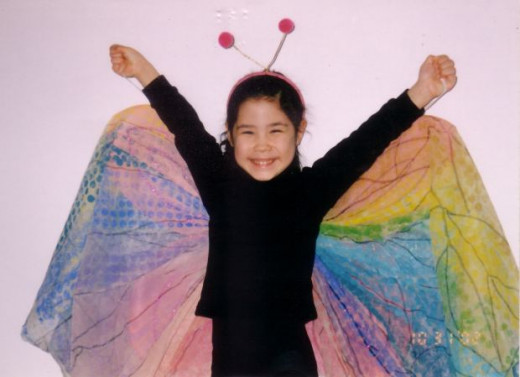 Christian children have many positive options for costumes, including butterflies!