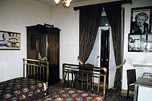 The Pera Palace Hotel room where Christie wrote Murder on the Orient Express. Photo courtesy of Wikipedia.