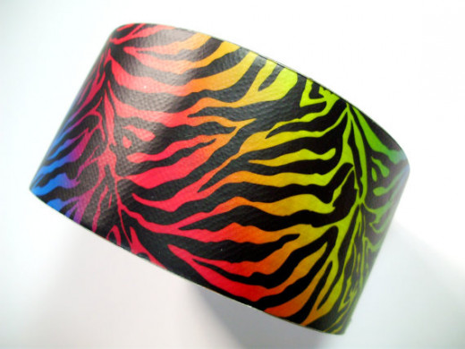 Zebra pattern Duct tape - lots of colors and patterns available.