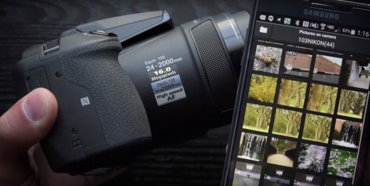 The Nikon app for downloading photos to your phone