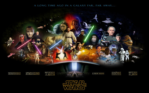 The first 6 Star Wars movies
