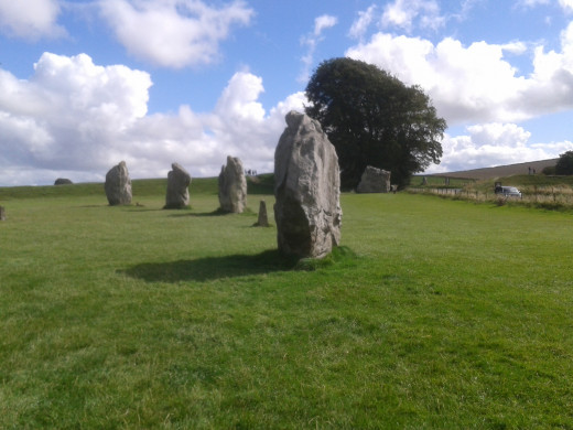 Part of the megalithic circle at Avebury