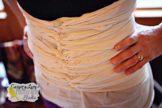 This is an example of a traditional Malaysian abdominal binding.