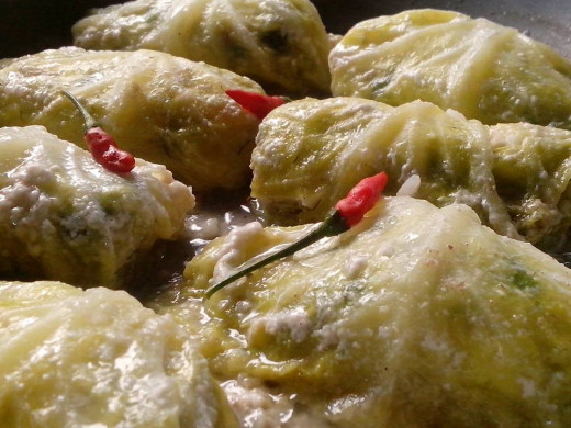 Its done after 20 minutes. The HOT & SPICY PILI NUTS in CABBAGE ROLLS are now ready to be served! Photo Source: Ireno Alcala