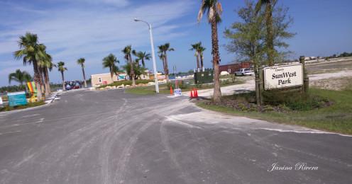 SunWest Park Entrance at Parking Lot (unfinished)