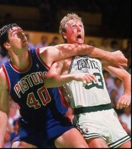Bill Laimbeer and Larry Bird, NBA