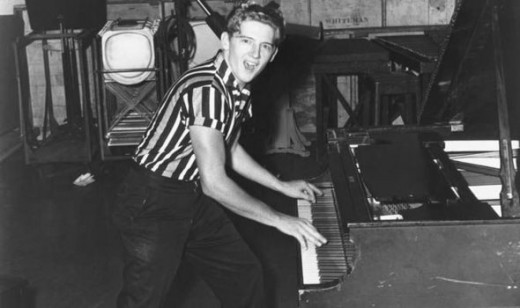 Jerry Lee Lewis playing piano