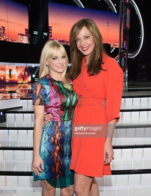 Actress Anna Faris (L) and actress Allison Janney attend The 41st Annual People's Choice Awards Media Day.