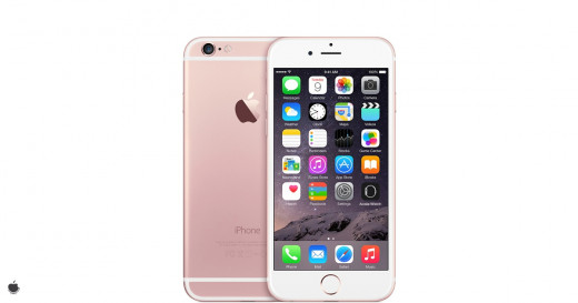 This is a sample image from Apple of the iPhone 6s in it's new colour rose gold. The latest edition the apple smartphone range