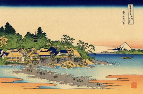 Thirty-six Views of Mount Fuji (富嶽三十六景 Fugaku Sanjūrokkei) is a series of landscape prints the Japanese ukiyo-e artist Hokusai (1760–1849).