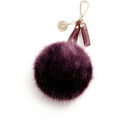 Faux Fur Pom Pom Key Rings