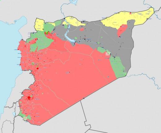 It is next to Iraq, Jordan, Lebanon, Israel, Turkey, and the Mediterranean Sea.