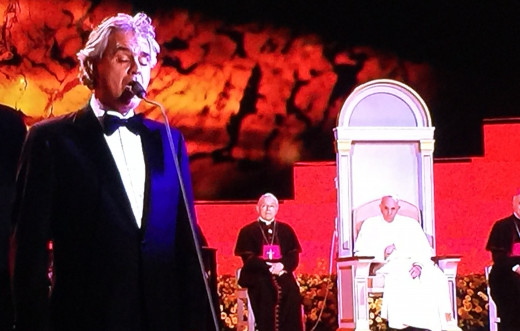 Andrea Bocelli performing at the Festival of Families, Philadelphia