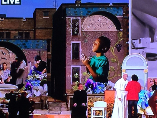 Mural To Dedicate the Pope, Meeting of Families, Philadelphia, 2015