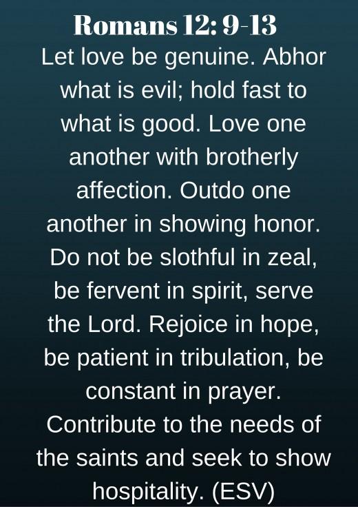 Romans 12: 9-13