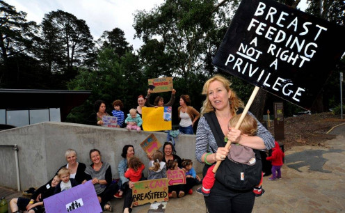 Protesting the right to breastfeed