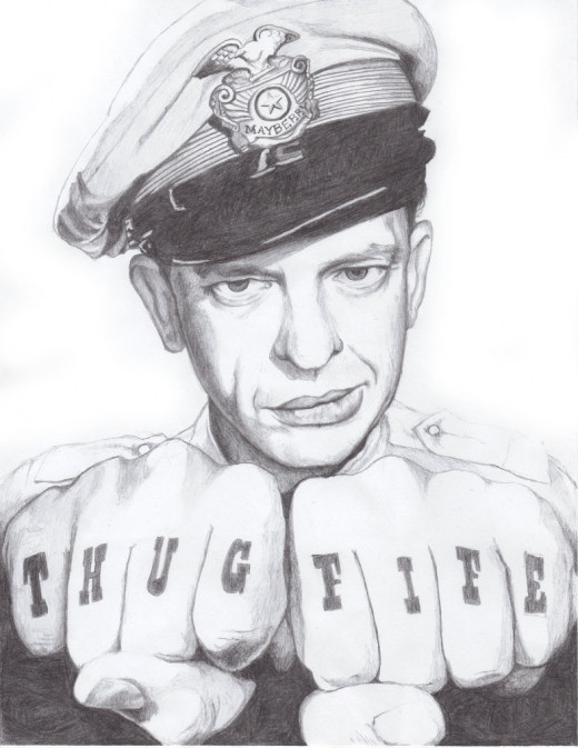 My personal drawing of Don Knotts as Barney Fife!