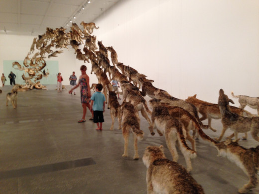 'The Heritage' installation artwork of Cai Guo-Qiang at the Gallery of Modern Art, Southbank, Brisbane. Image by Erwin Cabucos