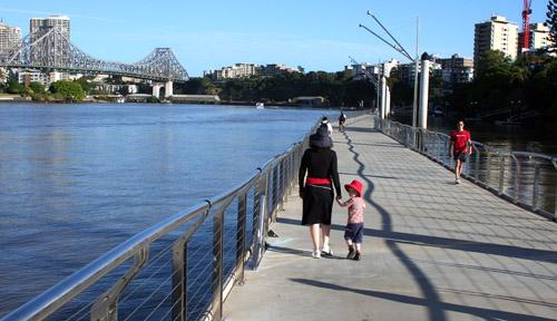 The Brisbane Riverwalk. Image by Brisbaneandbeyond.wordpress.com