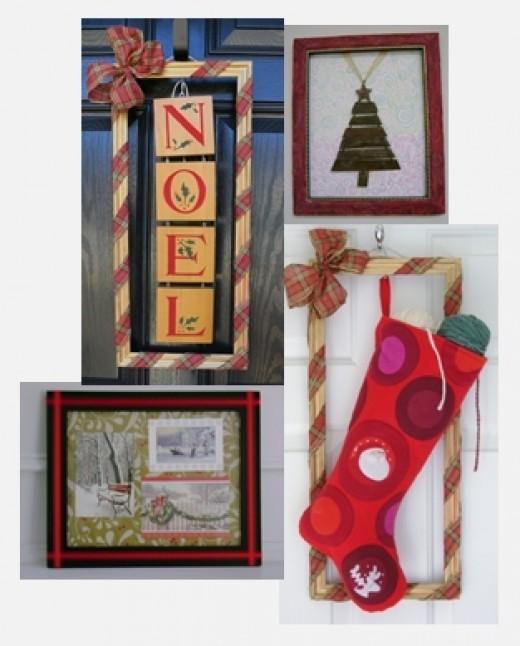 Decorating for the Holidays Using Basic Frames