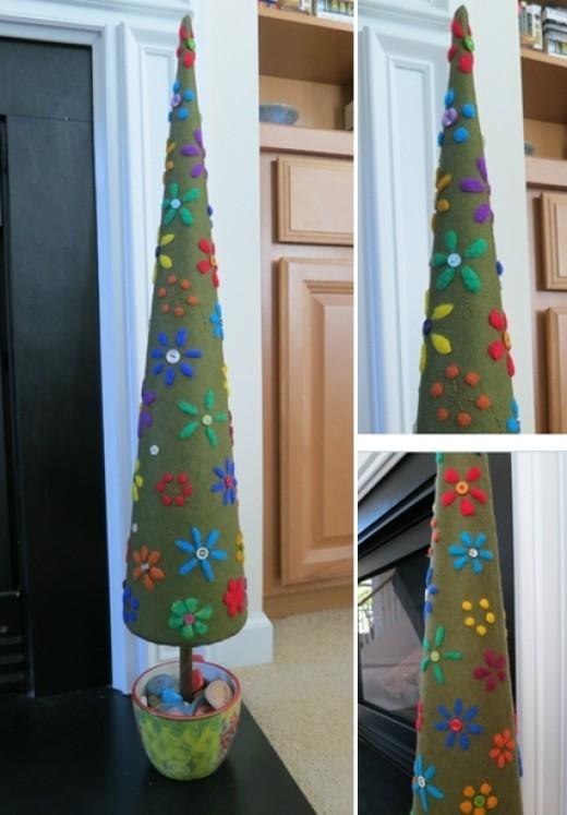 Needle Felted Tree Decoration