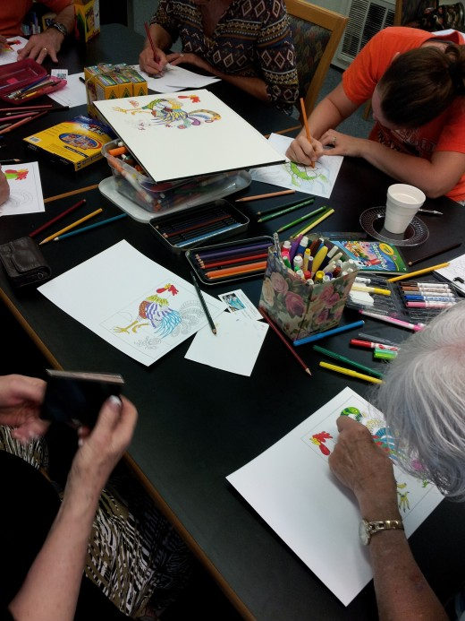Adult coloring groups have sprung up all over the country.