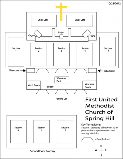 FUMCSH Map of Worship Space