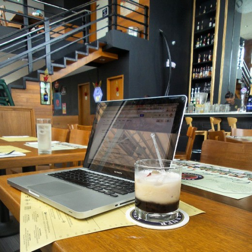 Enjoying writing a blog post as I enjoy my drink and making money at the same time.