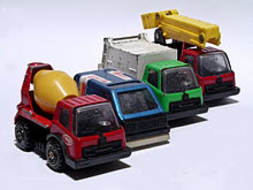 Tonka Toy trucks
