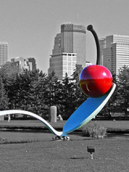 Bent Spoon with Cherry by Claes Oldenburg Minneapolis Sculpture Garden
