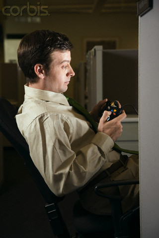 Slackers love to play games on their computers at work when no one is around.