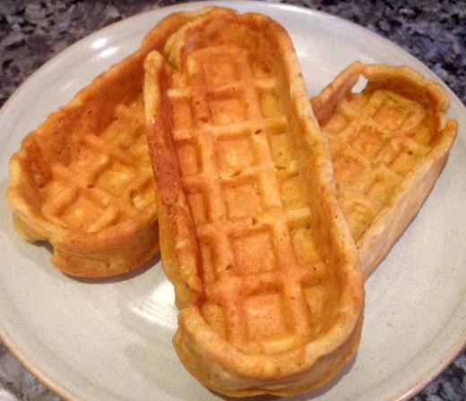 Hearty Oatmeal Pumpkin Waffles by Molly Brose