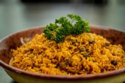 Island Bites: Arroz con gandules (Puerto Rican pigeon peas rice)
