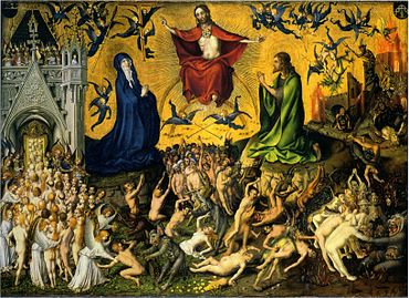 Stefan Lochner, Last Judgement, c. 1435. Wallraf-Richartz Museum, Cologne