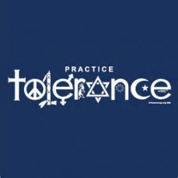 The word tolerance spelled with cool symbols.