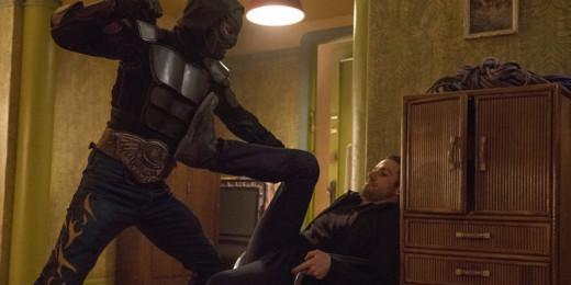 Luchador Batman fighting against someone after the Evo Underground Railroad