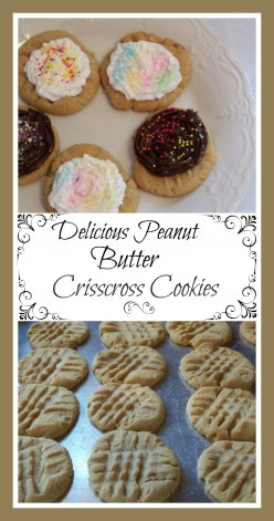 Delicious Easy Homemade Peanut Butter Crisscross Cookies and Frosting Recipes.
