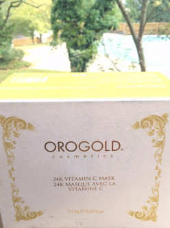 The luxury of gold in skincare: Orogold 24K Vitamin C Mask
