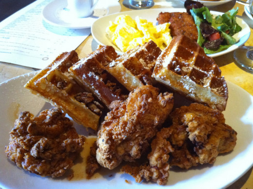 egg lamb waffles
