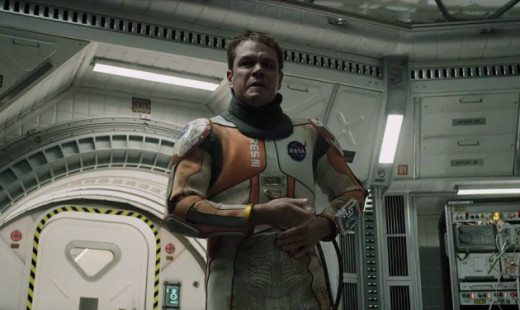 Mark Watney in his space suit