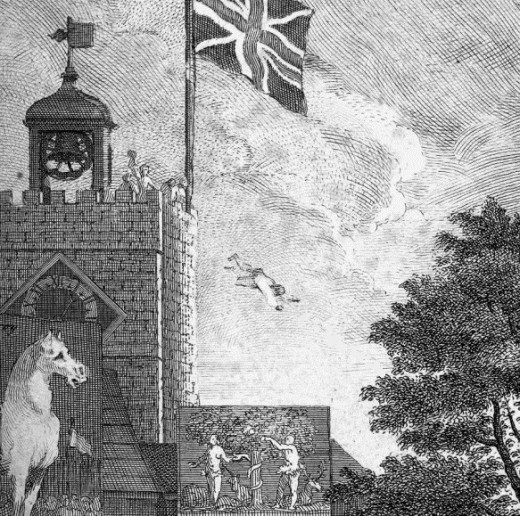Detail from an C18th engraving by Hogarth